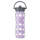 美國唯樂Lifefactory 彩色玻璃水瓶-吸管450ml淺紫 LF224040