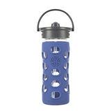 美國唯樂Lifefactory 繽紛彩色玻璃水瓶-吸管350ml寶藍色 LF284041