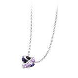 Brosway  Romeo & Juliet (Ceramic) 深紫淺紫方鑽不鏽鋼項鍊