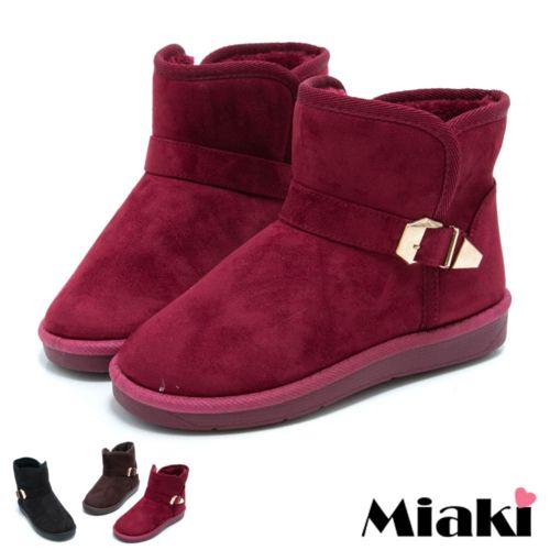 【Miaki】東大必買內增高保暖短靴雪靴 (紅色 / 咖啡 / 黑色)