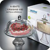 美國Anchor二用高腳玻璃蛋糕盤-A86475