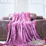 【情定巴黎】紫璀璨 極暖金貂絨毛毯(150cm x 200cm)一入
