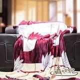 【情定巴黎】楓紅火舞 極暖金貂絨毛毯(150cm x 200cm)一入