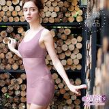 【安吉絲】魔幻3D體塑美體塑身衣/M-XXL(粉紫色)