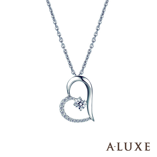 A-LUXE 亞立詩鑽石 總重0.25克拉 The Heart鑽石項鍊