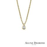 A-LUXE 亞立詩鑽石 Pure系列 0.13克拉 水滴梨型鑽項鍊
