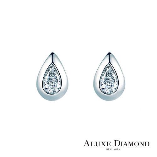 A-LUXE 亞立詩鑽石 Pure系列 梨型美鑽耳環
