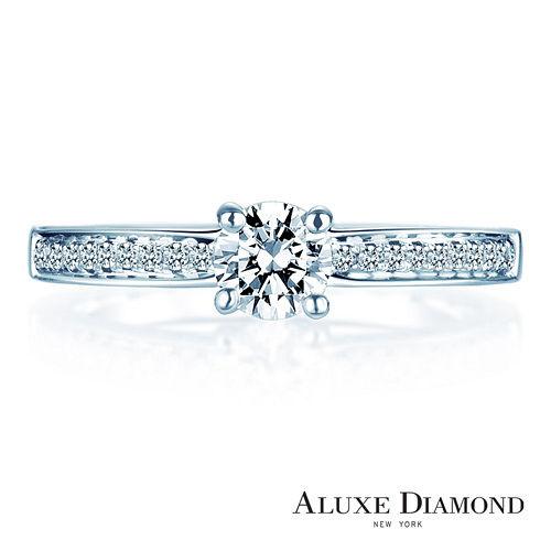 A-LUXE 亞立詩鑽石 0.30克拉F VS2八心八箭求婚鑽戒