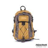 AOKANA奧卡納 台灣扣具 輕量護脊紓壓 防潑水機能後背包(土黃)68-075