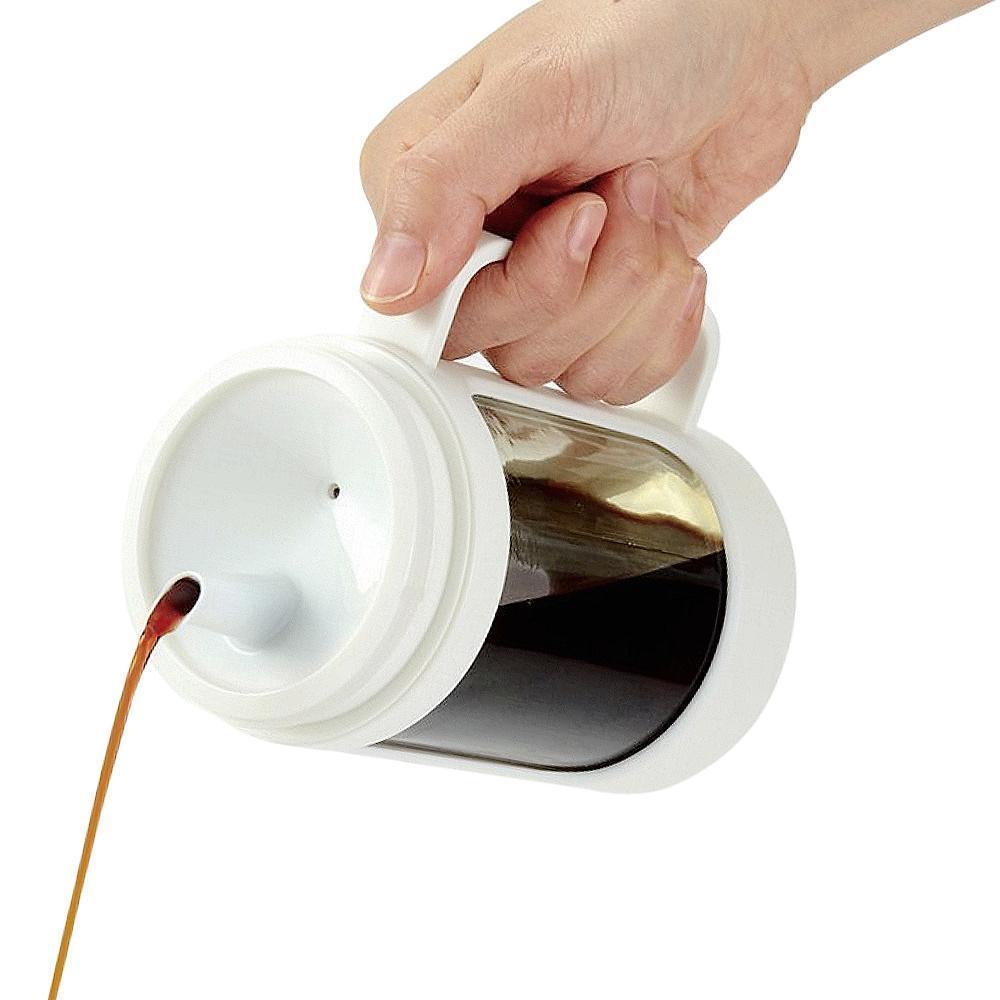 ASVEL油控式350ml調味油手提玻璃壺 白色