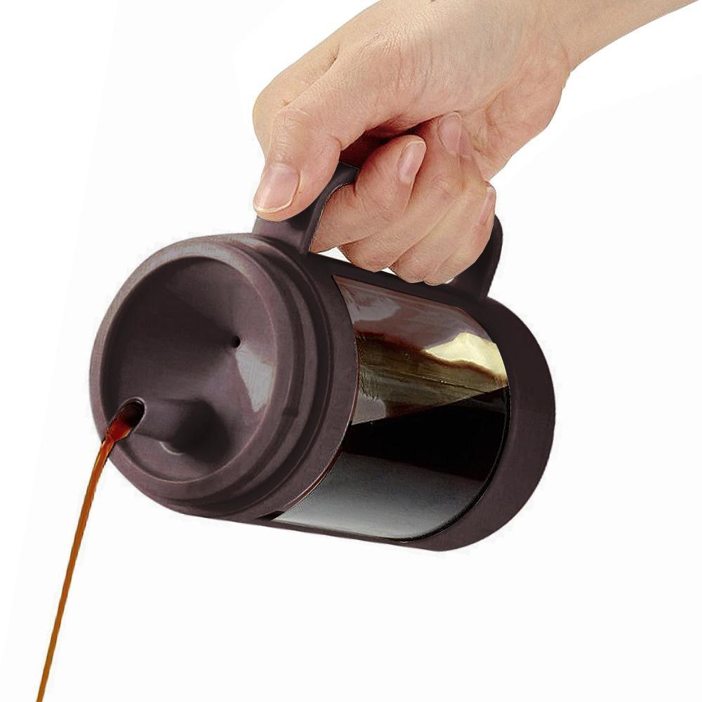 ASVEL油控式350ml調味油手提玻璃壺 咖啡色