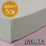【JAKOTA】3M透氣全平面高密度低反發床墊5cm(雙人加大記憶床墊)