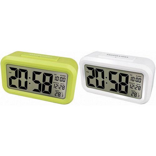 【KINYO】簡約普通型鏡面光控聰明鐘(TD-331)2入組