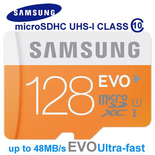 三星SAMSUNG 128GB EVO microSDXC UHS-I 48MB/s平輸﹝加送SD轉接卡+手機套+MP3耳機﹞