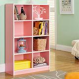 【Yomei】DIY輕鬆收納八格櫃/書櫃/置物櫃/收納櫃(粉色)