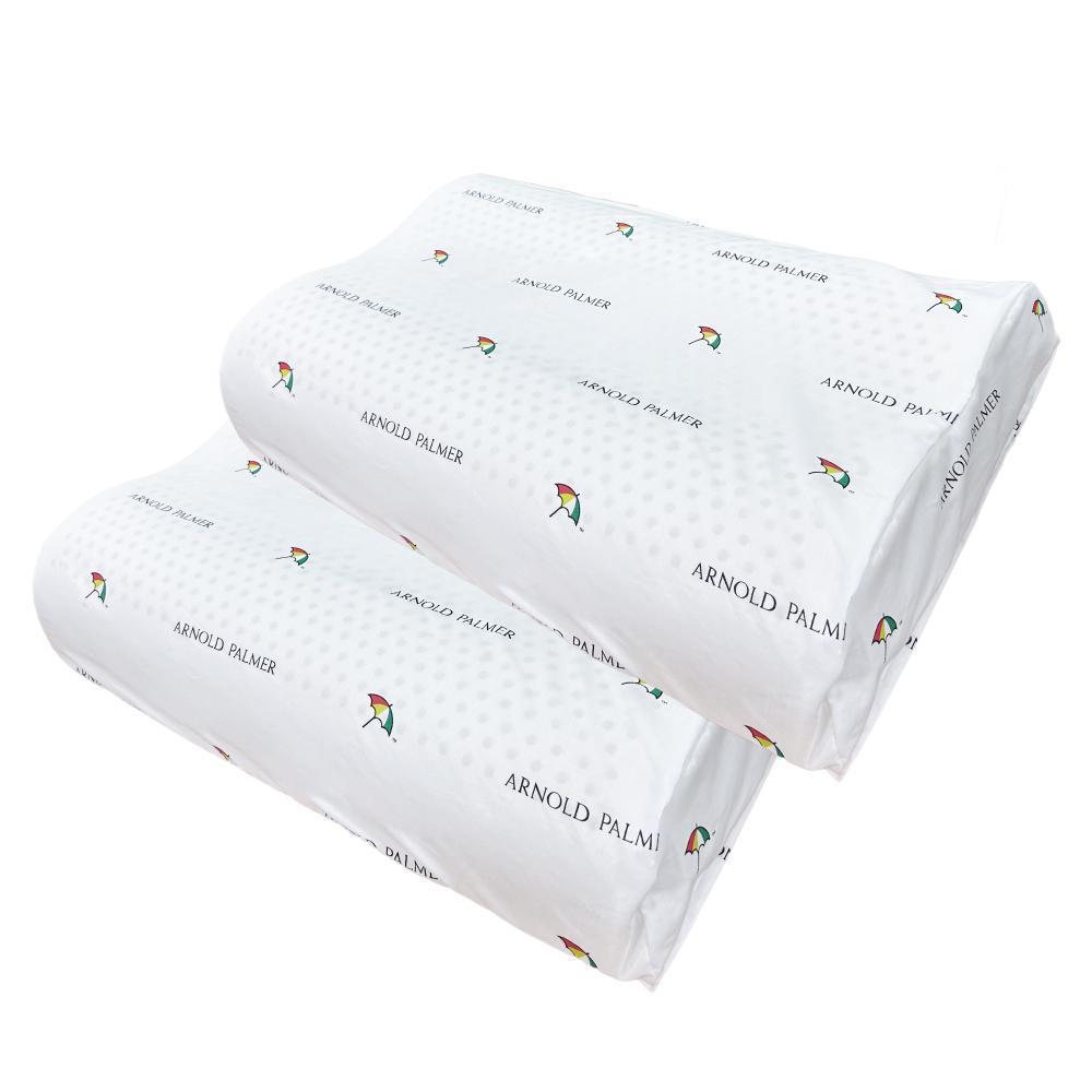 【Arnold Palmer雨傘牌】人體工學乳膠枕2入
