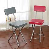 丹寧 方型厚墊折疊椅-灰色