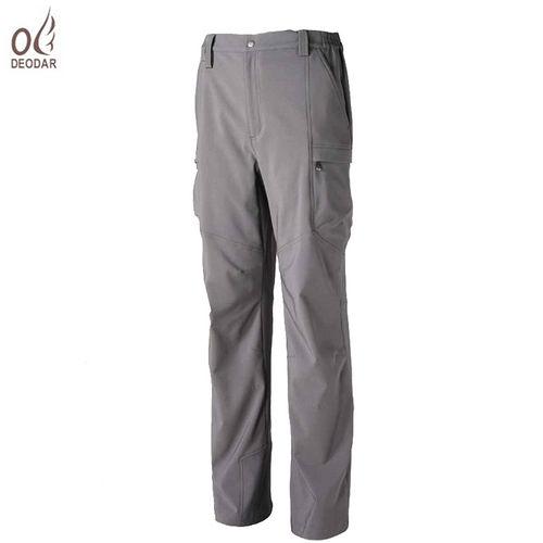 【DEODAR】 戶外休閒男款彈性內磨毛保暖功能長褲