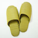 《MORINO摩力諾》日式個性無聲布室內拖鞋-綠色
