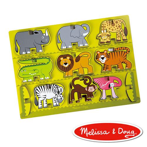 美國瑪莉莎 Melissa & Doug 厚塊疊層拼圖 - 動物園