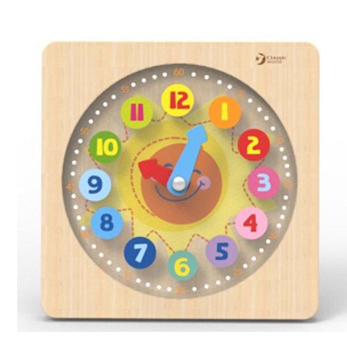 德國classic world木製小熊學習時鐘