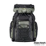 AOKANA奧卡納 輕量防潑水專業登山休閒雙肩後背包 容量可加大(軍綠)68-060