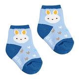 喜羊羊毛巾止滑襪(藍/黃)13-15公分