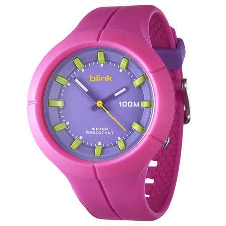 JAGA捷卡-blink AQ1008-G果凍繽紛潮流防水指針錶(粉) -friDay購物