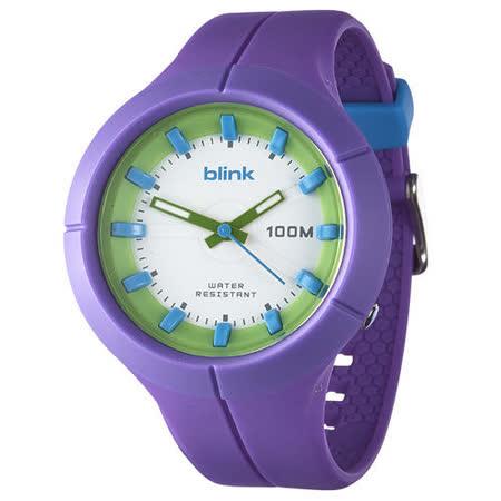 JAGA捷卡-blink AQ1008-J果凍繽紛潮流防水指針錶(紫) -friDay購物