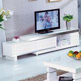 【AT HOME】黛芙妮5.3尺白色伸縮長櫃/TV櫃
