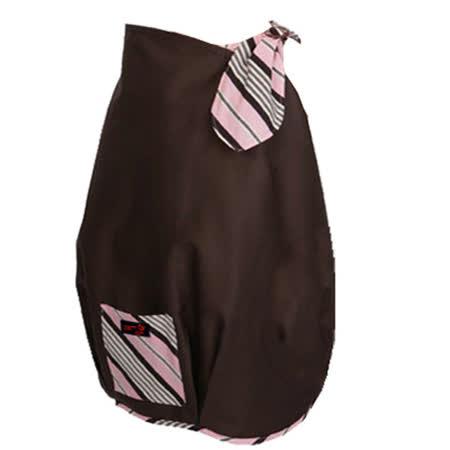 【FONDANT BABY】哺乳遮蓋布披肩(咖啡粉邊) -friDay購物
