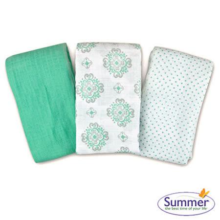 Summer Infant  細棉紗布寶寶毯3入組