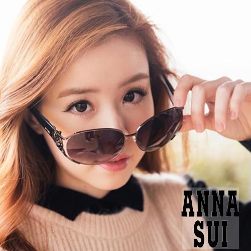 Anna Sui 日本安娜蘇 復古時尚金屬玫瑰精雕造型太陽眼鏡 AS844-902