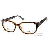 DIOR眼鏡 仿皮革壓紋系列 (琥珀黑) # CD3236 DJS