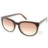 agnes b.太陽眼鏡 個性小貓眼 (深咖啡)# AB2816 DB