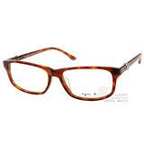 agnes b.光學眼鏡 LOGO鑲嵌小扣(咖啡棕) #ABP242 Y04