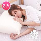 【日本濱川佐櫻-和風素雅】大尺寸AA級蜂巢平面天然乳膠枕-2入