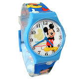 【迪士尼】歡樂米奇時光休閒運動童錶-藍色(DX4106)