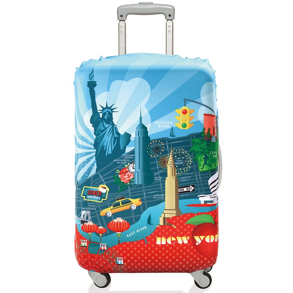 LOQI 行李箱套【L號】│紐約 LLURNY
