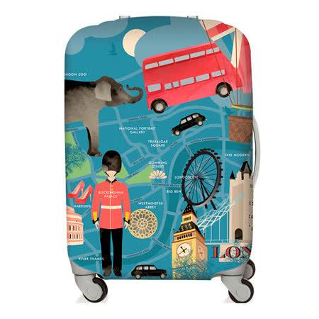 LOQI  行李箱套【L號】│倫敦