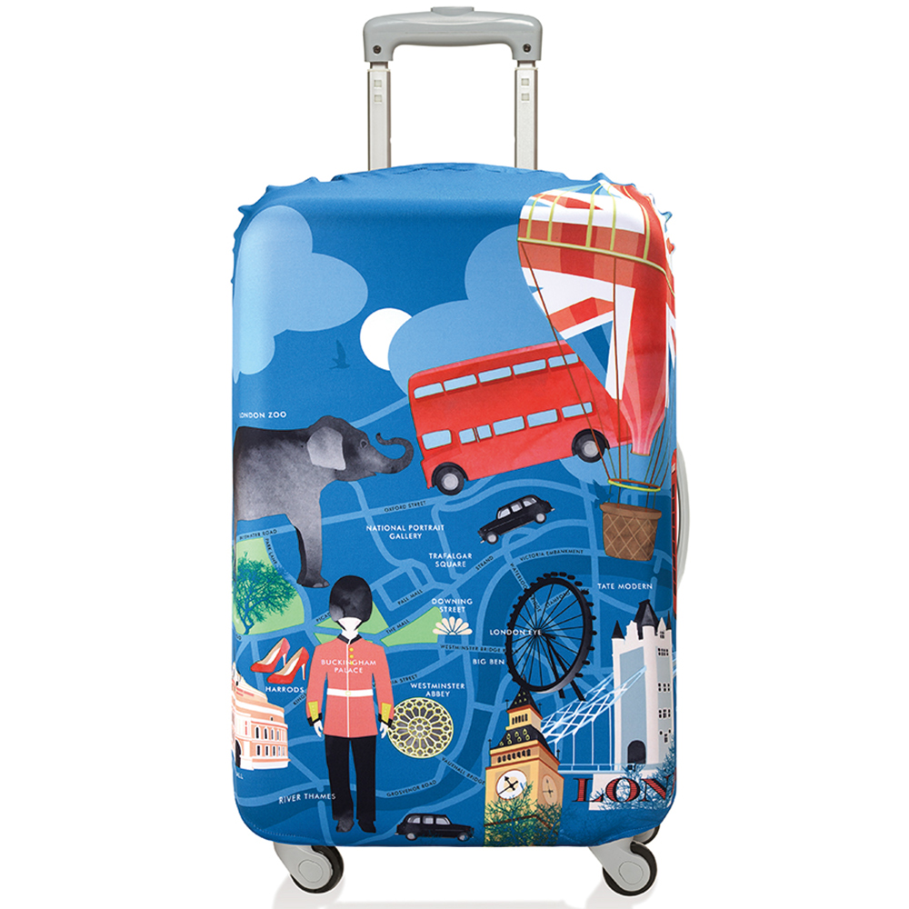 LOQI 行李箱套【S號】│倫敦 LSURLO