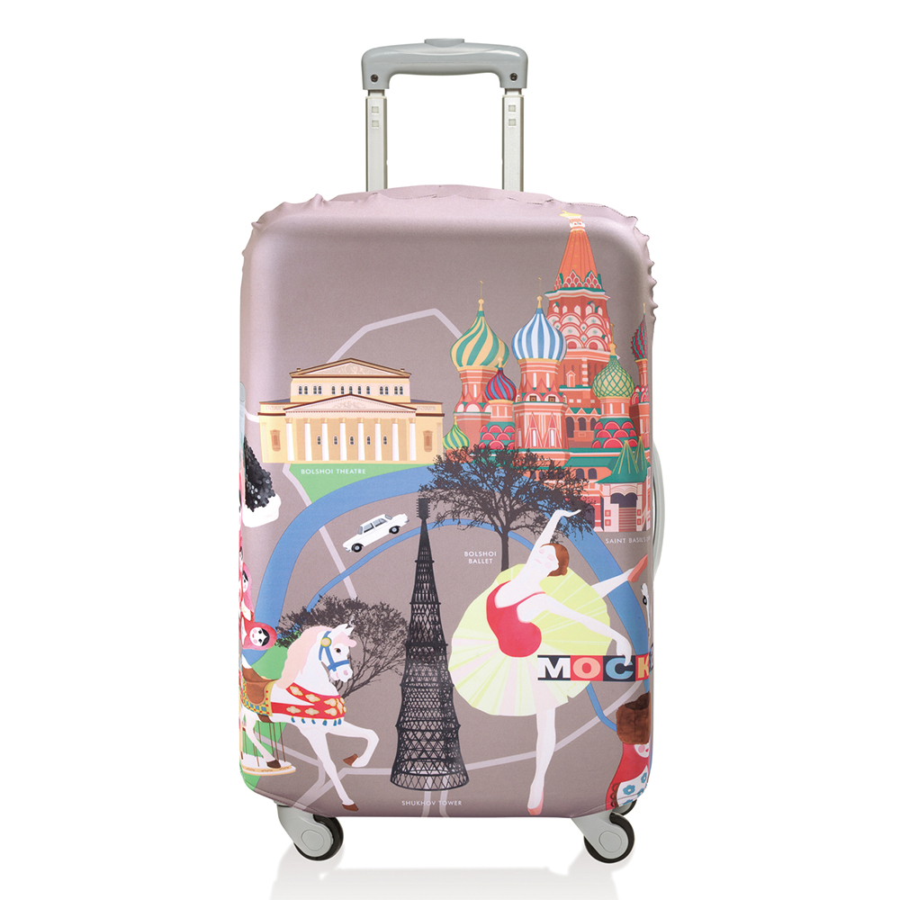 LOQI 行李箱套【S號】│莫斯科 LSURMO