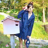 日本狂賣【w.p.c.】baby style。時尚雨衣/風衣(R1002)-深藍點點