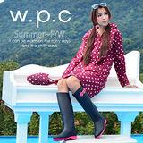 日本狂賣【w.p.c.】顯瘦修長款。時尚雨衣/風衣(R1005)-桃紅