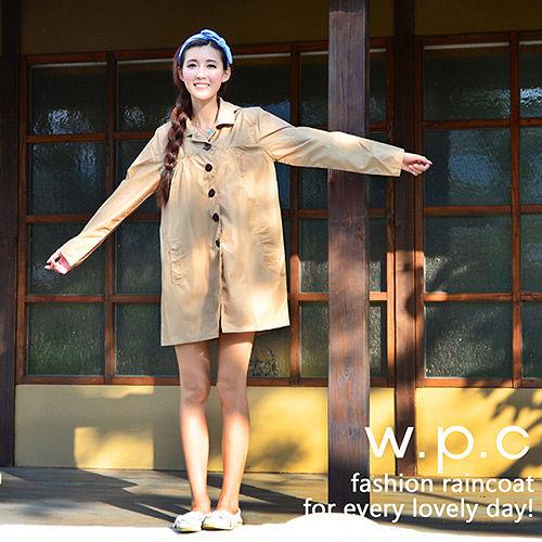 日本狂賣【w.p.c.】baby style。時尚雨衣/風衣(R1002)-卡其