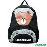 【LINE FRIENDS】 雙層書背包 (無辜熊大)