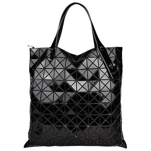 ISSEY MIYAKE 三宅一生BAOBAO幾何方格10x10肩背包(黑)