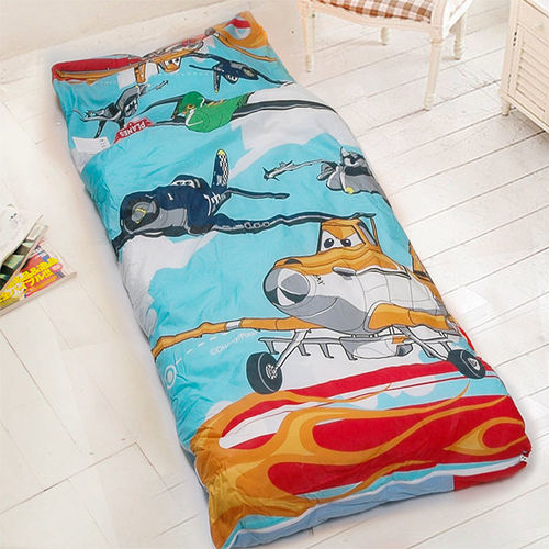 【迪士尼-飛機總動員】台灣精製兒童睡袋(藍)