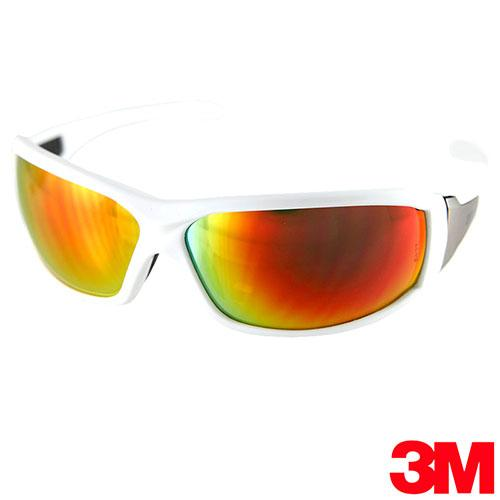 3M 經典寬版專業戶外運動眼鏡 Metal-3搶眼白