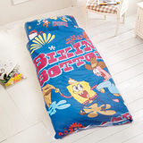 【歡樂海棉寶寶--二人行】台灣精製兒童睡袋(深藍)